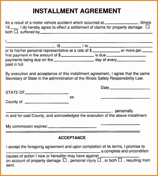 Payment Plan Contract Template Unique 5 Installment Payment Agreement Sample
