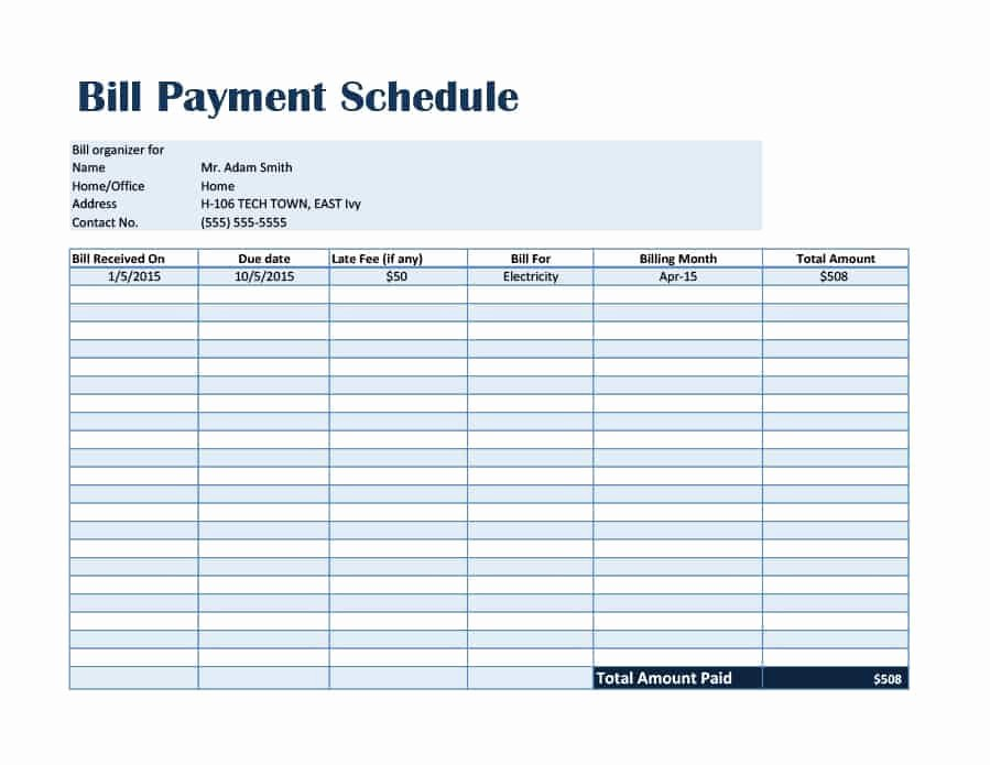 Payment Plan Template Free Lovely 33 Great Payment Plan Schedule Templates Template Archive