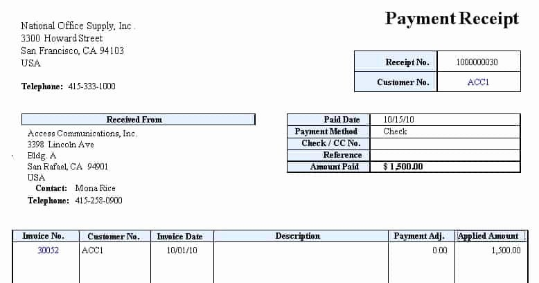 Payment Receipt Template Word Elegant Receipt Payment Templates Find Word Templates