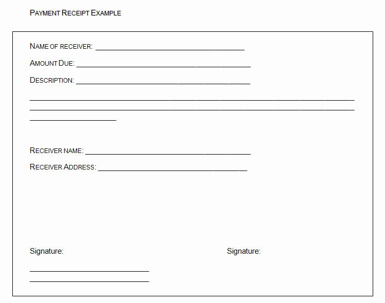 Payment Receipt Template Word Elegant the Proper Receipt format for Payment Received and General