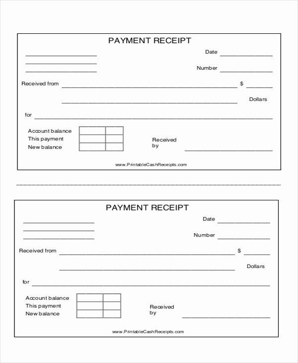 Payment Receipt Template Word Inspirational 8 Payment Receipt formats Pdf Word