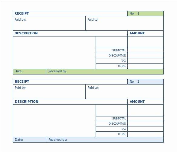 Payment Receipt Template Word Inspirational Blank Receipt Template Word
