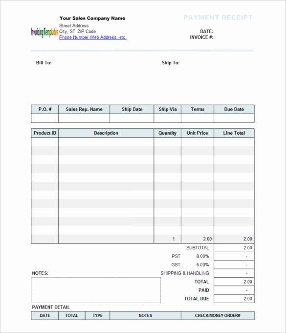 Payment Receipt Template Word Unique Payment Receipt Template 10 Free Word Excel Template