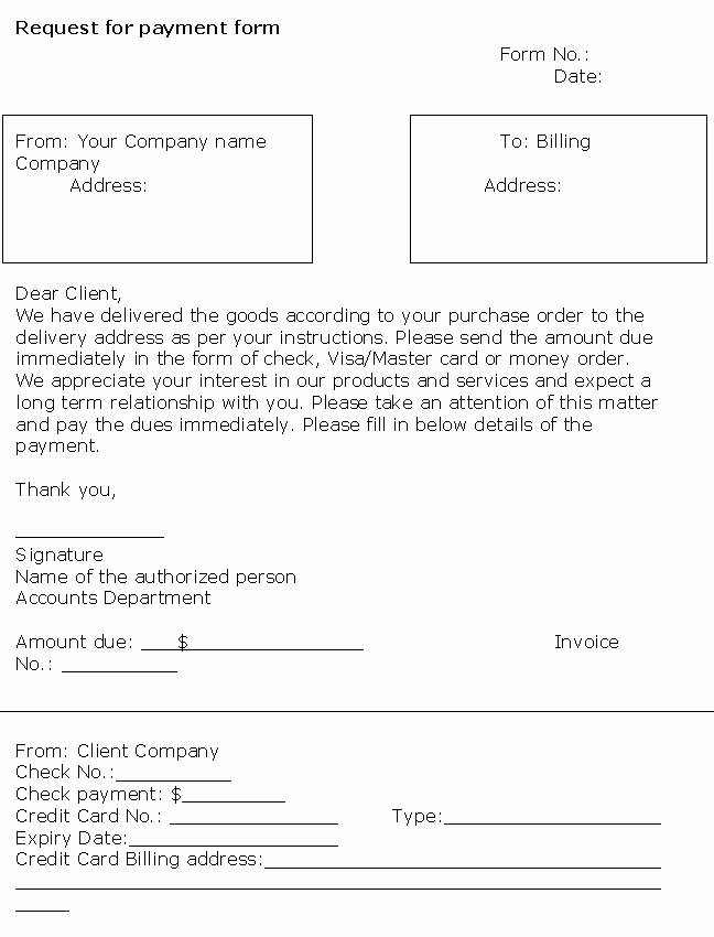 Payment Request form Template Luxury 27 Of Template Requesting Payment