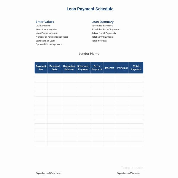 Payment Schedule Template Excel Awesome 22 Payment Schedule Templates Word Excel Pdf