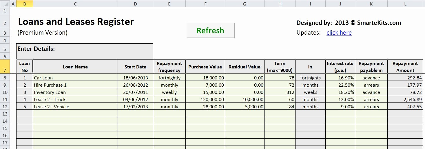 Payment Schedule Template Excel Awesome Lease Amortization Schedule Equipment Payment Excel