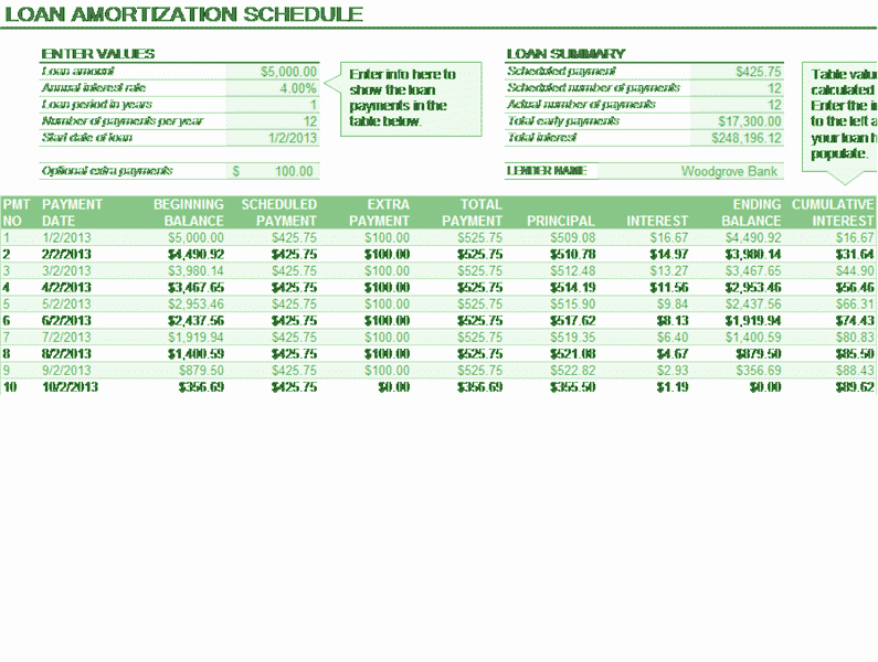 Payment Schedule Template Excel Luxury Download Loan Amortization Schedule