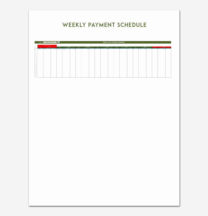 Payment Schedule Template Excel New Payment Schedule Template 5 for Word Excel & Pdf