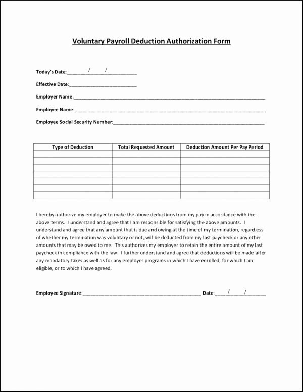 Payroll Deduction Authorization form Template Awesome Free 26 Payroll Samples & Templates In Psd