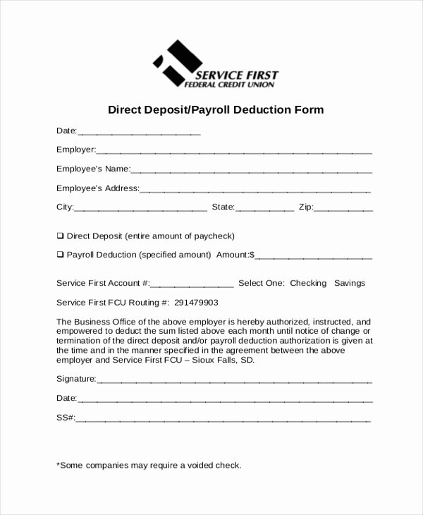 Payroll Deduction Authorization form Template Awesome Sample Payrolle Deduction form 12 Free Documents In Pdf