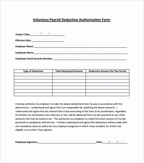 Payroll Deduction Authorization form Template Lovely 14 Payroll Templates Pdf Docs Xlsx
