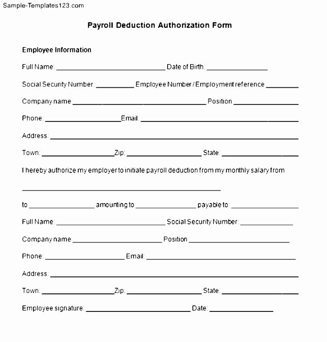 Payroll Deduction Authorization form Template Luxury 12 Direct Debit form Template Iizte
