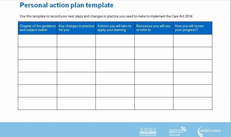 Personal Action Plan Template Awesome Simple Action Plan Template 4 Excel Word and Pdf Examples