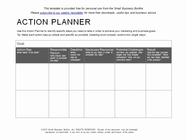 Personal Action Plan Template Beautiful 10 Effective Action Plan Templates You Can Use now