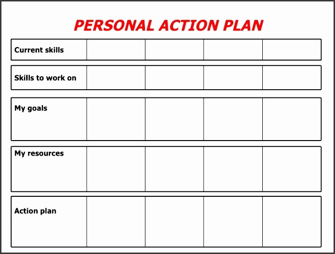 Personal Action Plan Template Elegant 9 forma Action Plan Template Sampletemplatess