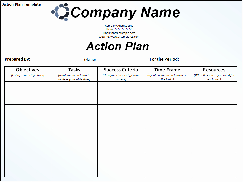 Personal Action Plan Template Luxury Business Action Plan Template