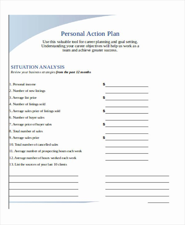 Personal Action Plan Template New 22 Plan Templates In Excel
