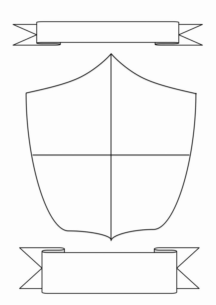 Personal Coat Of Arms Template Awesome Family Shield Template Shields Pinterest