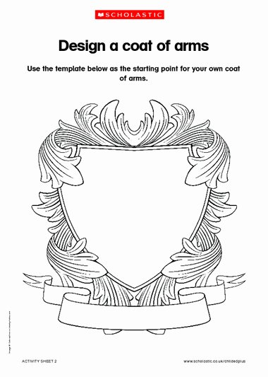 Personal Coat Of Arms Template Best Of Design A Coat Of Arms – Primary Ks1 Ks2 Teaching Resource