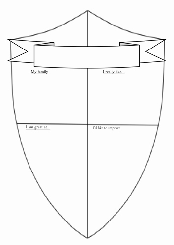 Personal Coat Of Arms Template Elegant Transition Shield Template by Tim Caird
