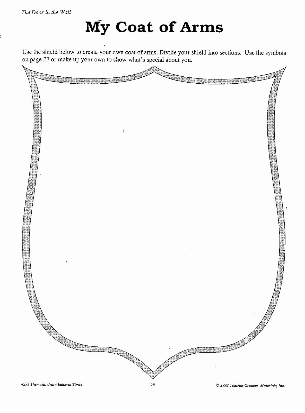 Personal Coat Of Arms Template Fresh Personal Crest Outline Stantonsocialstu S