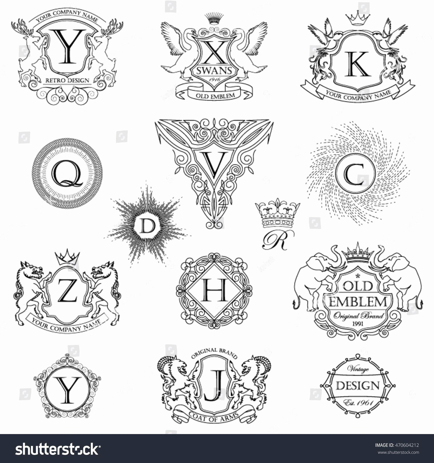 Personal Coat Of Arms Template Lovely Coat Arms Template Vector at Getdrawings