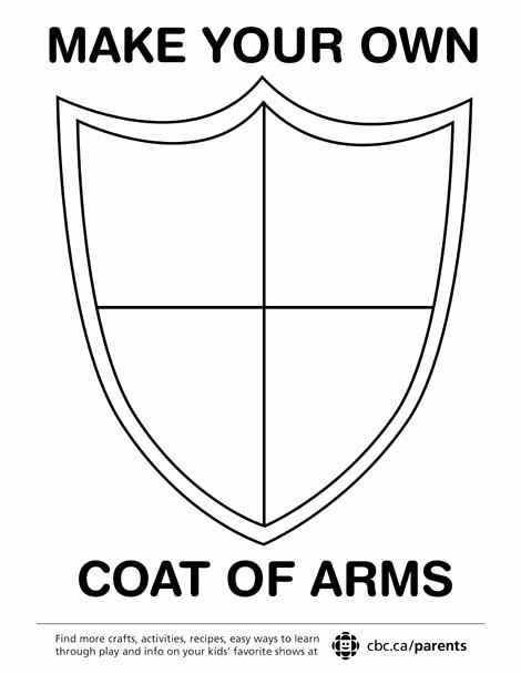 Personal Coat Of Arms Template Luxury Make Your Own Coat Arms Play