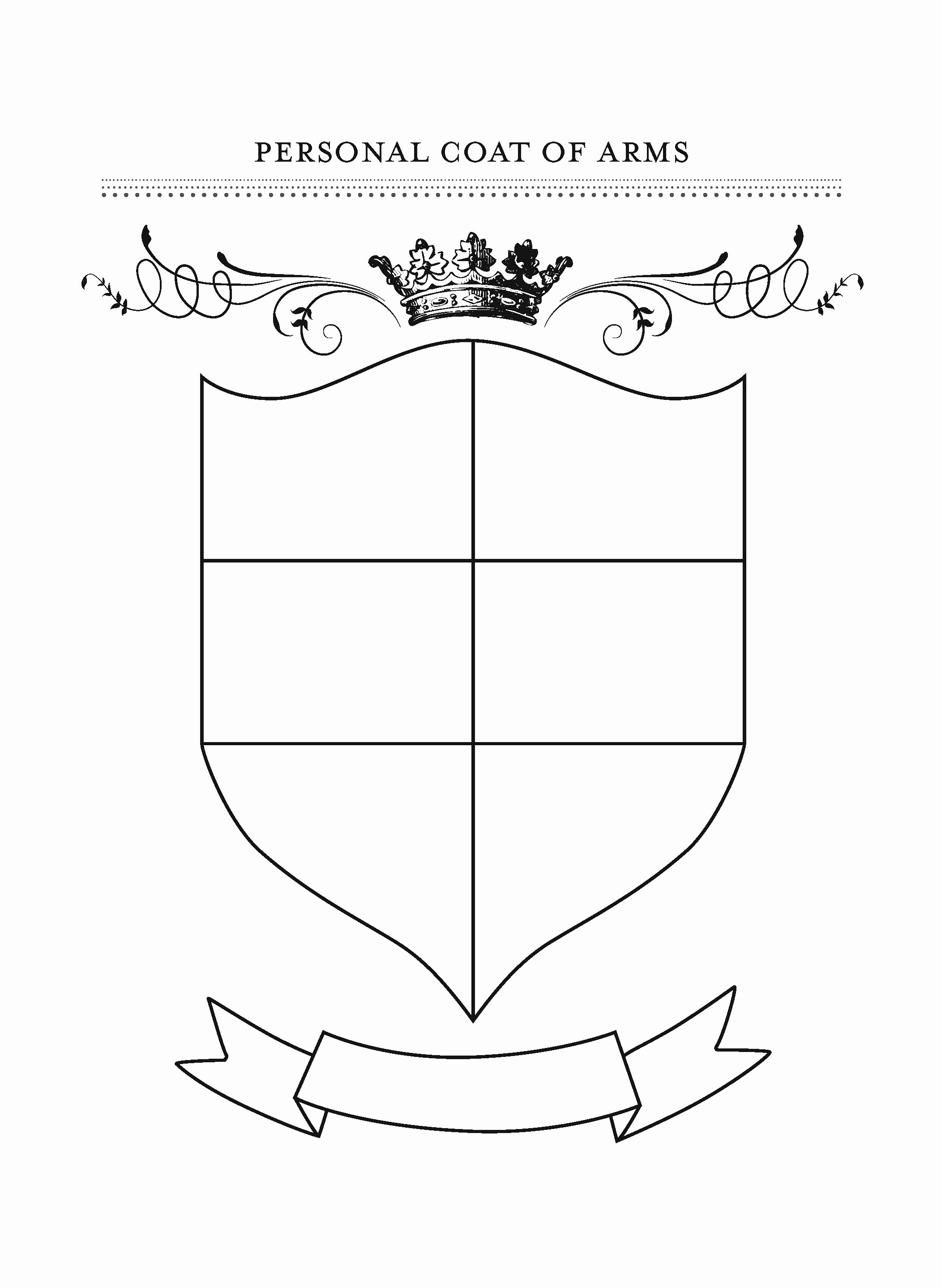 Personal Coat Of Arms Template New Honor Your Family with Fun Gratitude Crafts Slow Family