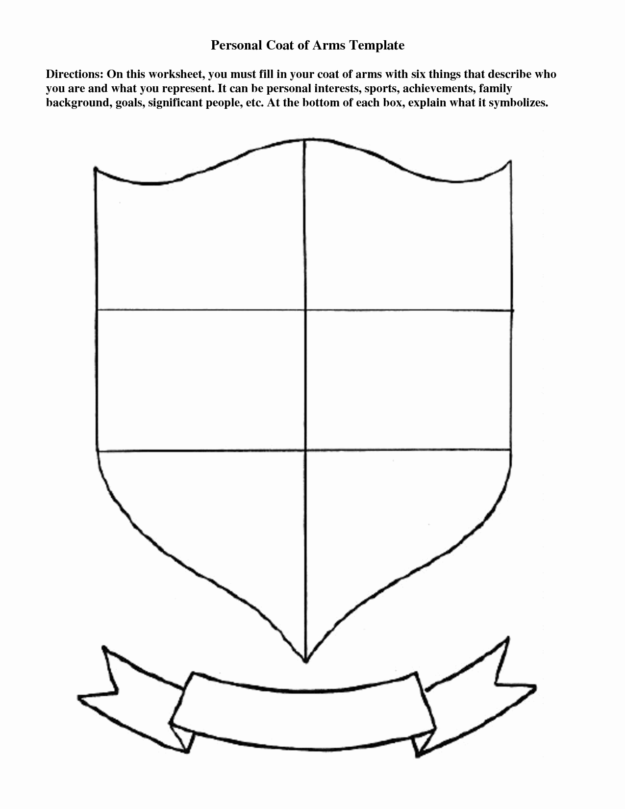 Personal Coat Of Arms Template Unique Coat Arms Template