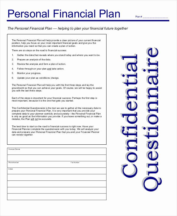 Personal Finance Plan Template Inspirational 40 Plan Samples & Templates In Pdf