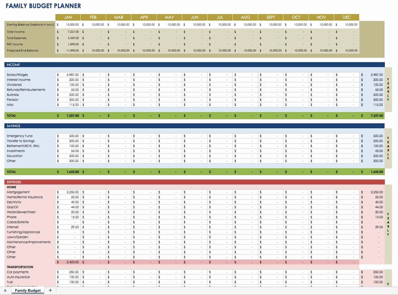 Personal Finance Plan Template New Free Financial Planning Templates