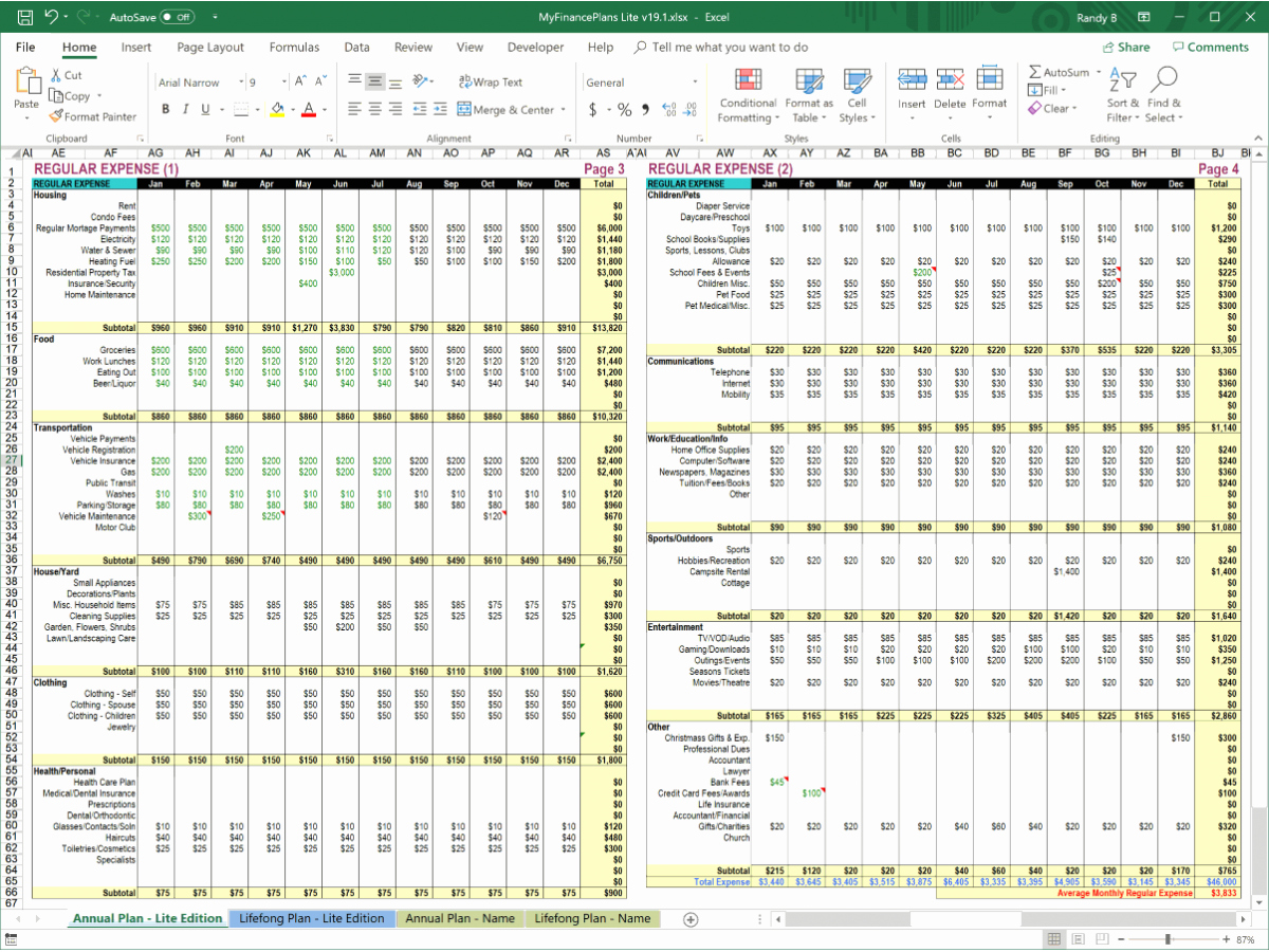 Personal Finance Plan Template New Myfinanceplans Personal Financial Plan Template Lite Edition
