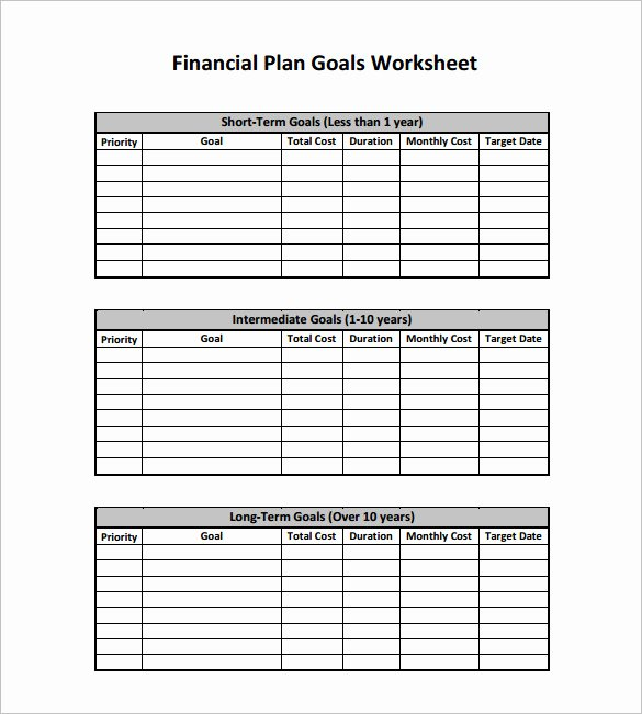 Personal Financial Plan Template Luxury Financial Planning Templates