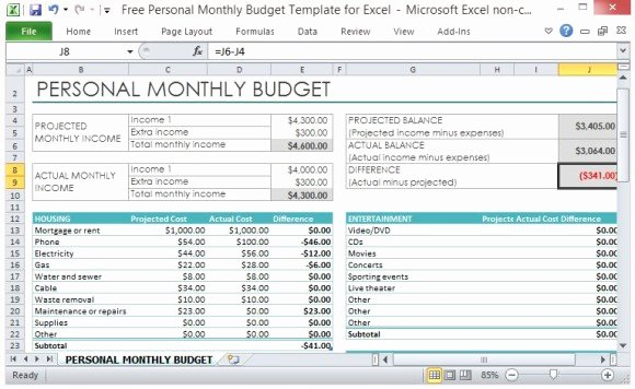 Personal Financial Plan Template Unique Personal Finance Excel Template