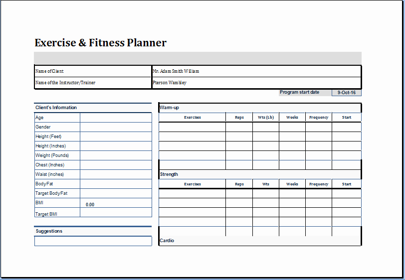 Personal Fitness Plan Template Best Of Pin by Microsoft Fice Templates On Microsoft Templates