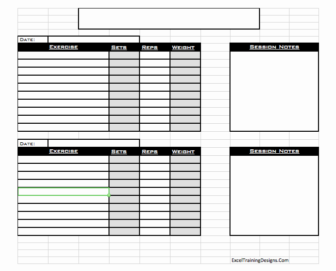 Personal Fitness Plan Template Inspirational Personal Training Personal Training Log