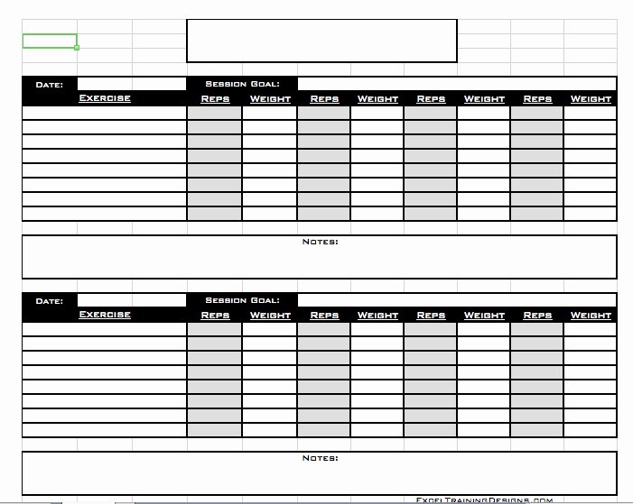 Personal Fitness Plan Template Lovely Personal Training Personal Training Log