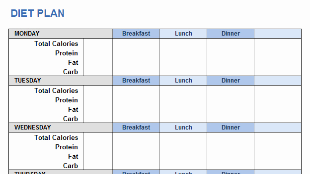 Personal Fitness Plan Template Luxury Weight Training Plan Template for Excel