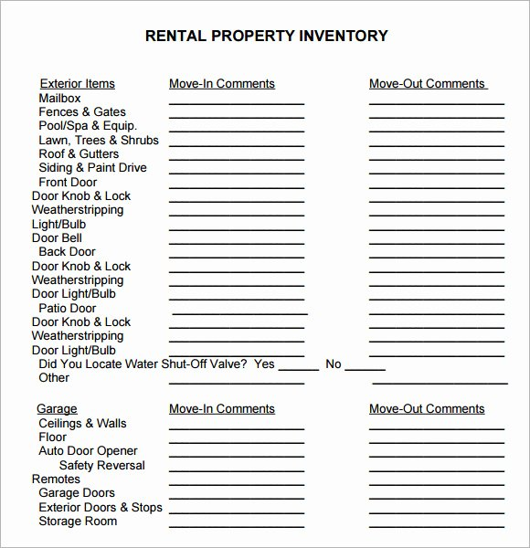 Personal Property Inventory Template Luxury 27 Of Personal Property Inventory Template