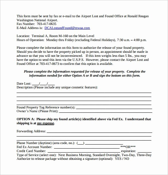 Personal Property Release form Template Lovely Sample Property Release form 14 Download Free Documents