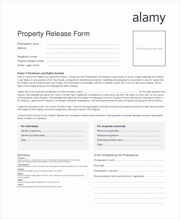 Personal Property Release form Template Luxury Sample Release form 11 Free Documents In Doc Pdf