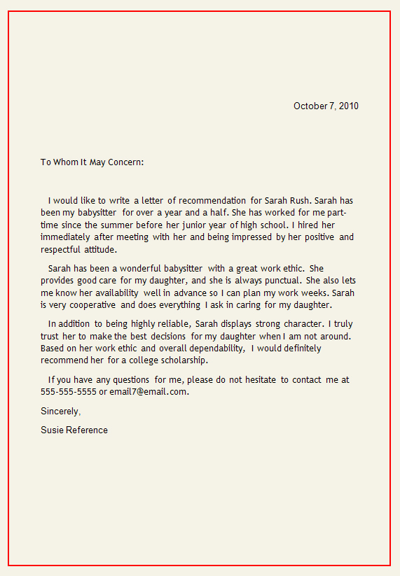 Personal Recommendation Letter Template Inspirational Personal Letter Of Re Mendation