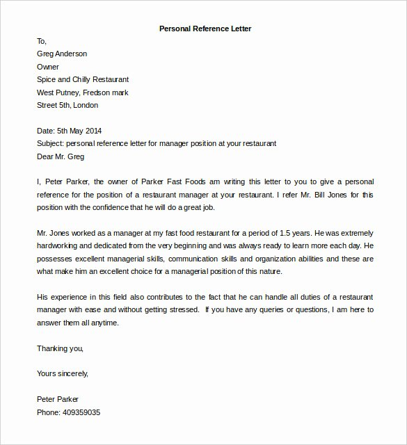 Personal Reference Letter Template Awesome Download Job Reference Template Microsoft Word Free