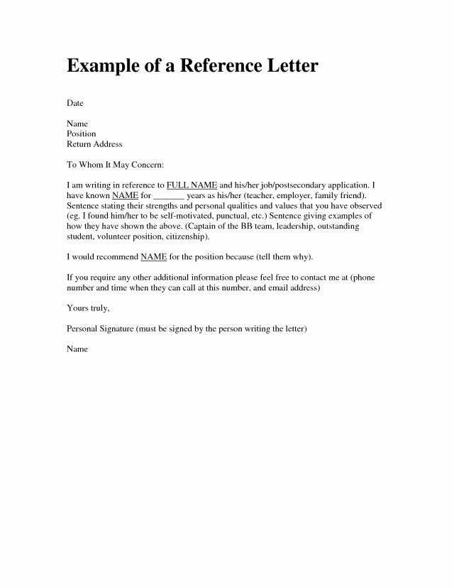 Personal Reference Letter Template Beautiful Character Reference Letter for A Friend 5 Samples Of