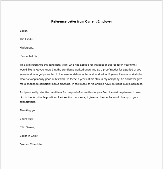Personal Reference Letter Template Word Elegant 38 Free Sample Personal Character Reference Letters Ms