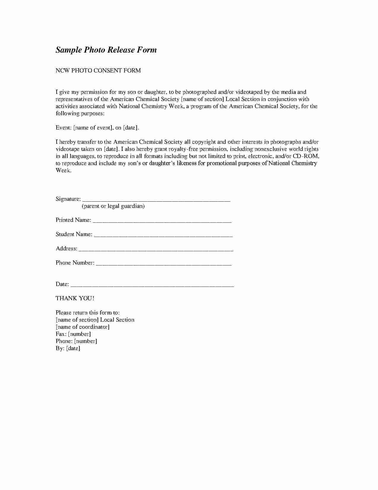 Photo Consent form Template Awesome Download Release form Style 8 Template for Free at