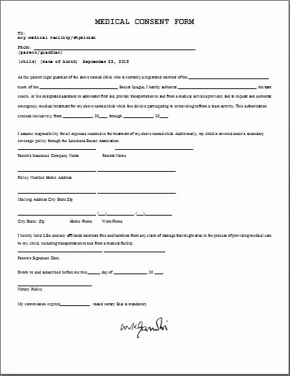 Photo Consent form Template Awesome Medical Consent form Daily Medical forms