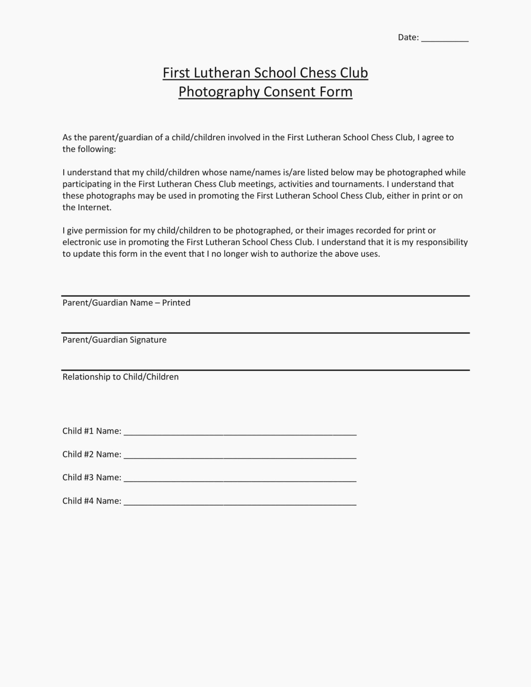 Photo Consent form Template Beautiful Video Consent form is so