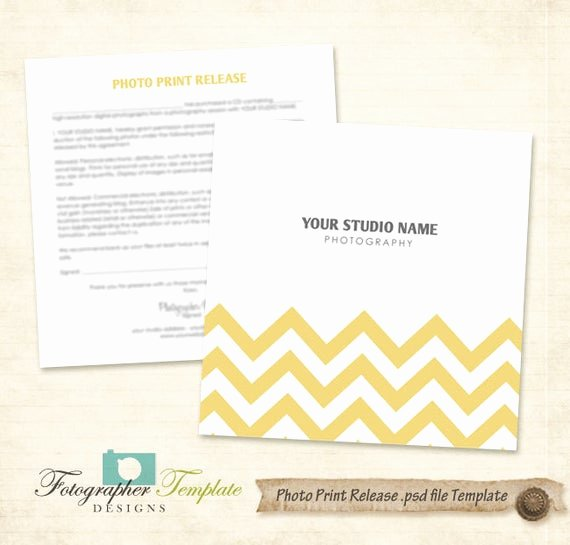 Photo Print Release form Template Lovely Chevron Print Release form Template Graphy forms A708
