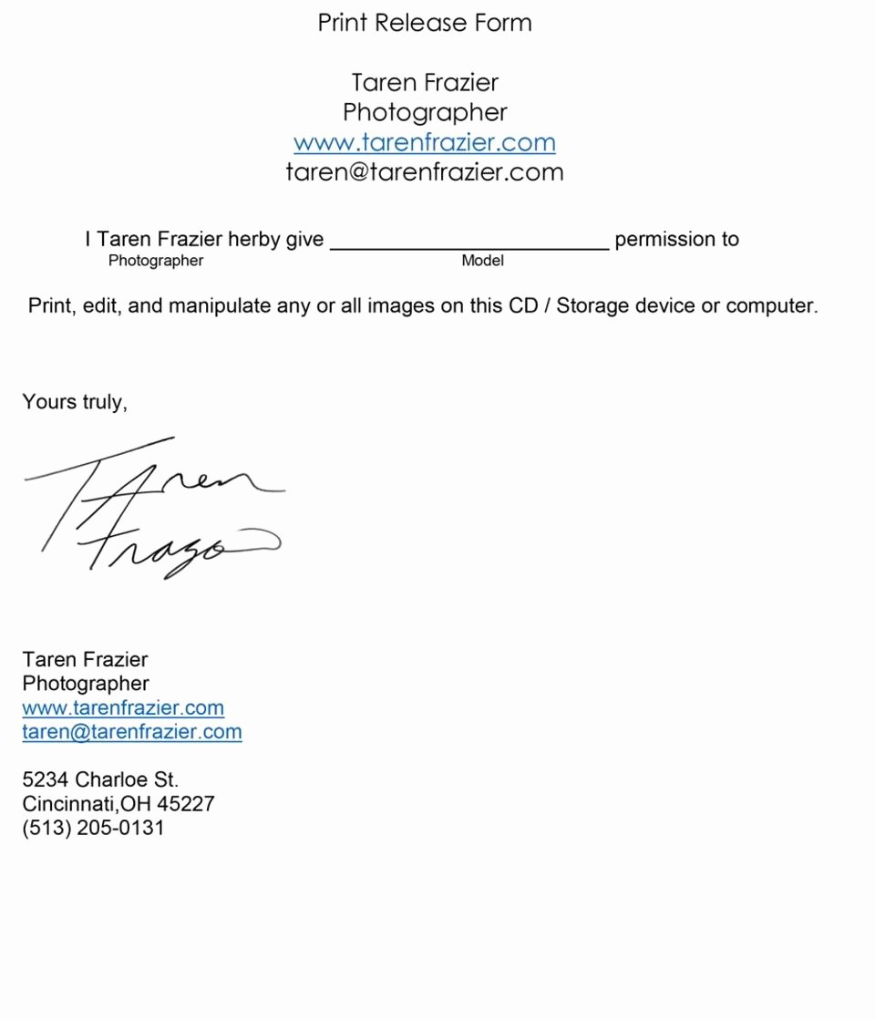 Photo Print Release form Template Lovely Custom Academic Paper Writing Services Resume Actors